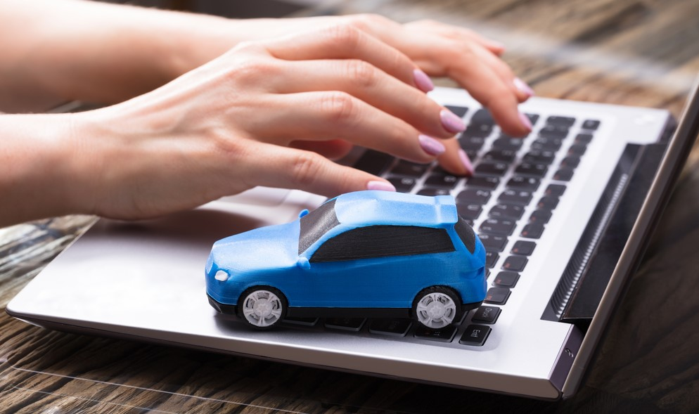 car insurance switch on laptop