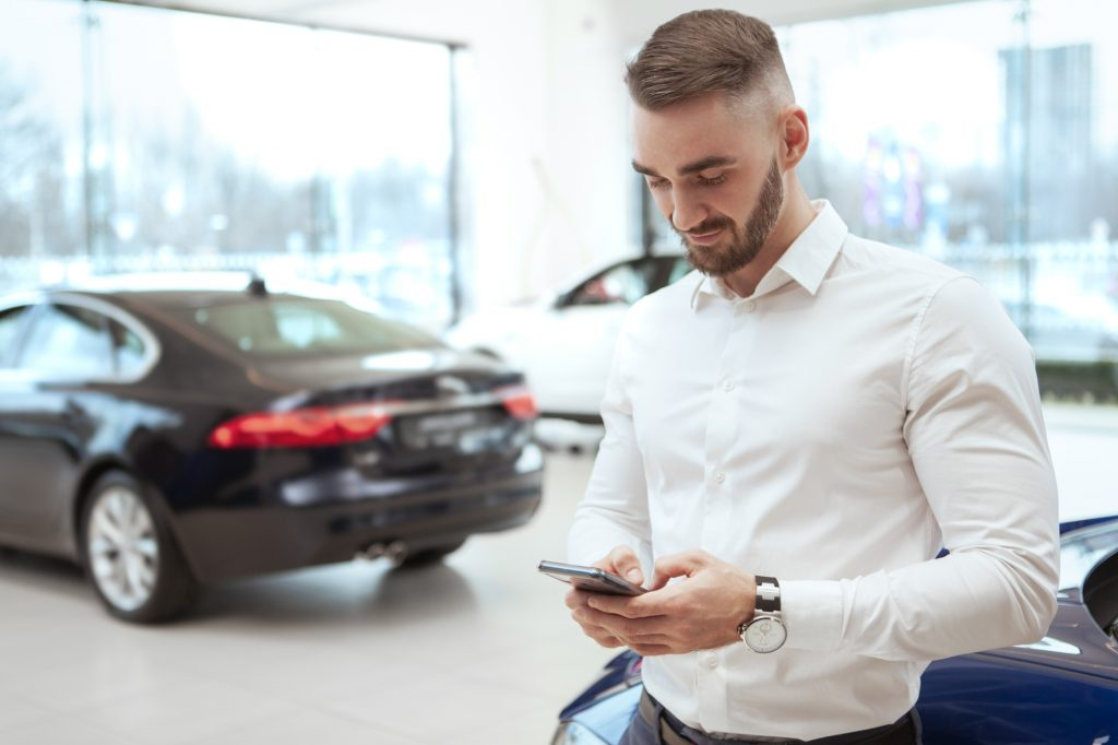 Choosing car insurance at dealership